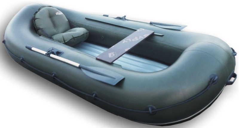 лодка надувная гребная двухместная с надувным дном