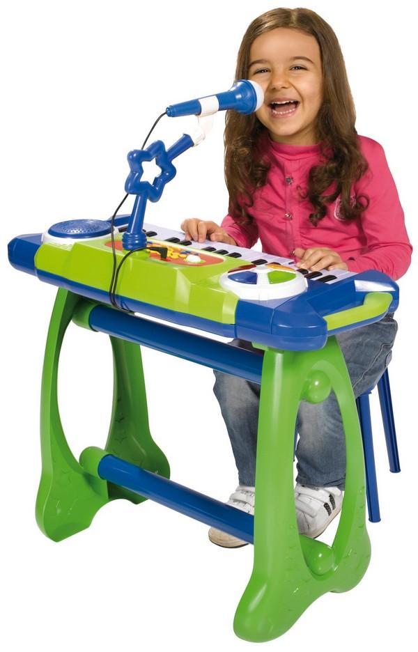 Синтезатор со стульчиком и микрофоном 2