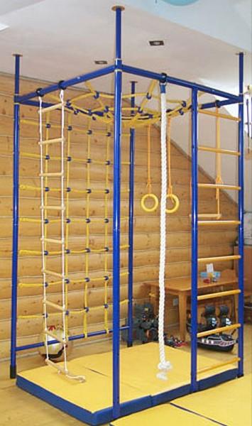 Вереск Домашний спортивный комплекс «5-ти опорный с паутиной и широкой сеткой для лазания»
